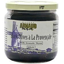 Black Provencal Olives with Thyme