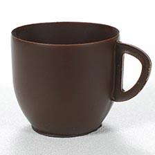 Dark Chocolate Coffee Mug - 1 x 2 x 2.25, Special Order