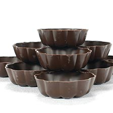 Dark Turban Chocolate Cup, Fluted - 2.5 Inch, Special Order
