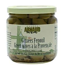 Green Provencal Olives with Fennel, Special Order