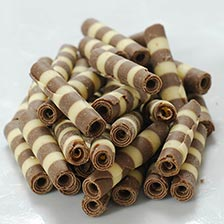 Milk and White Mini Chocolate Zebra Tubes - 1.5 Inch