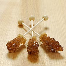 Rock Candy Amber Swizzle Sticks, Special Order