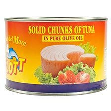 Solid White Tuna Chunks in Olive Oil