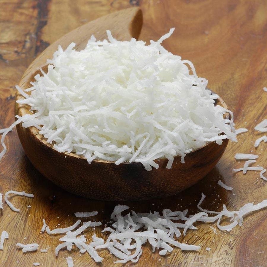 Raw shredded coconut