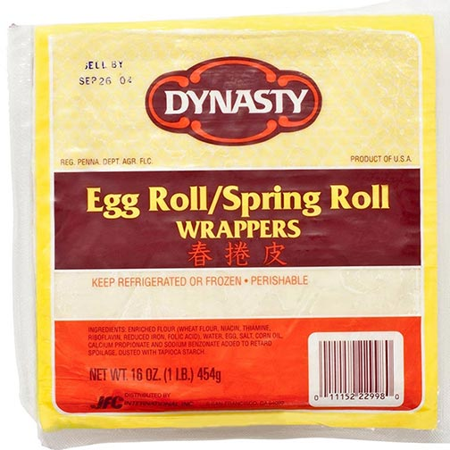 Egg Roll / Spring Roll Wrapper - 6.5 Inch